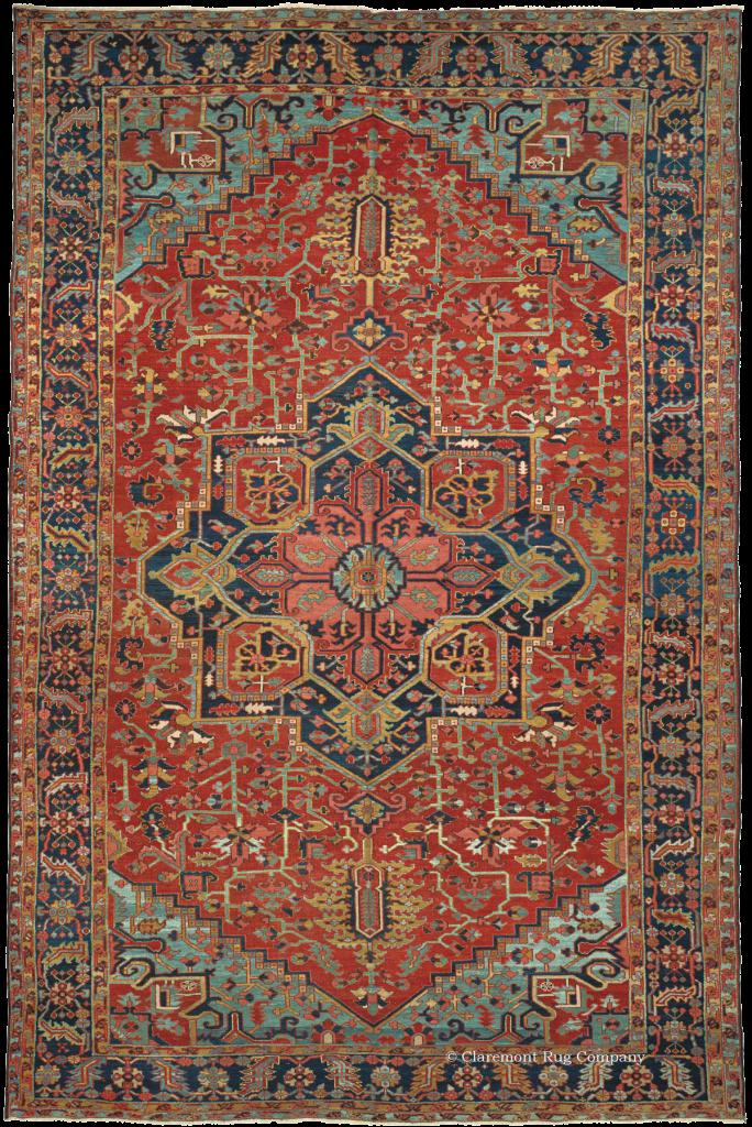 Art Of Antique Heriz Rugs Claremont Rug Company