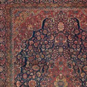 Antique Kashan Central Persian 8ft 10in X 12ft Circa 1920