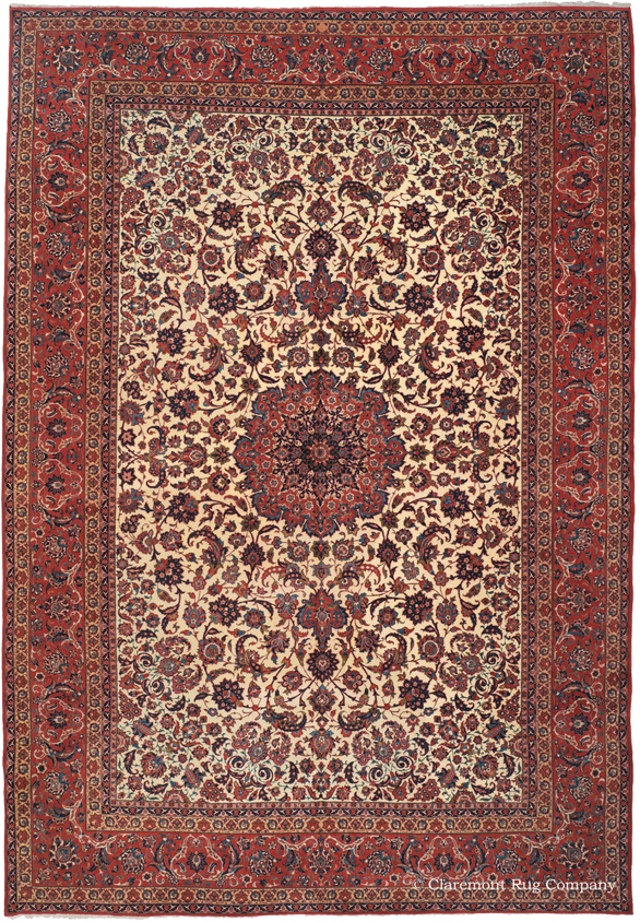 Click To Learn More About This Exquisite Antique Isfahan Rug