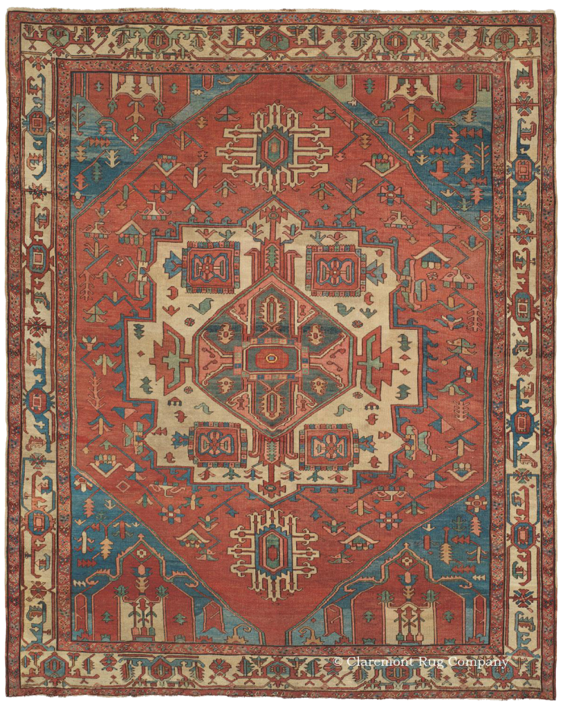 An Persian Serapi Antique Rug In Room Size
